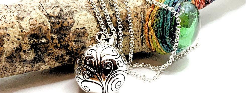 Tree of Life, Beautiful Pregnancy Bola Necklace, Harmony Ball, Mexican Bola