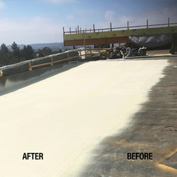 Spray Foam Insulation Roof Before/After