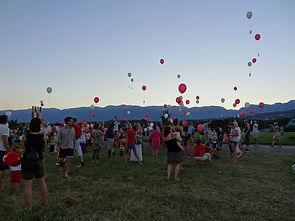 Lâcher de ballons - Chavannes-des-Bois