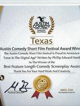 Austin Short Comedy Award plaque.jpg