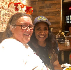 At Virgil's with Community Activist