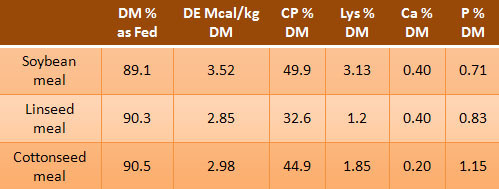 Table comparing protein supplements