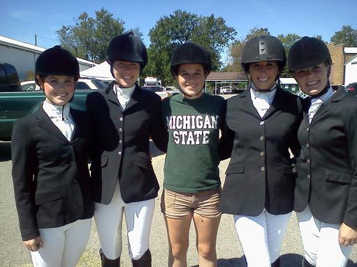 Young equestrian competitors