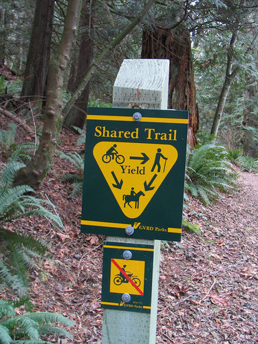 Shared trail sign