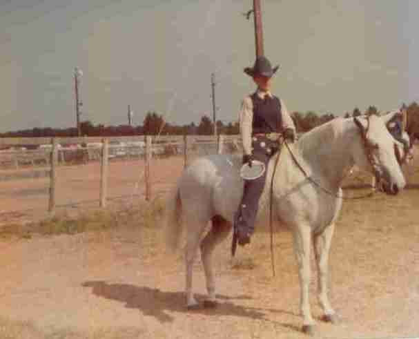 Dr. Christine Skelly and her horse, Bluebonnet