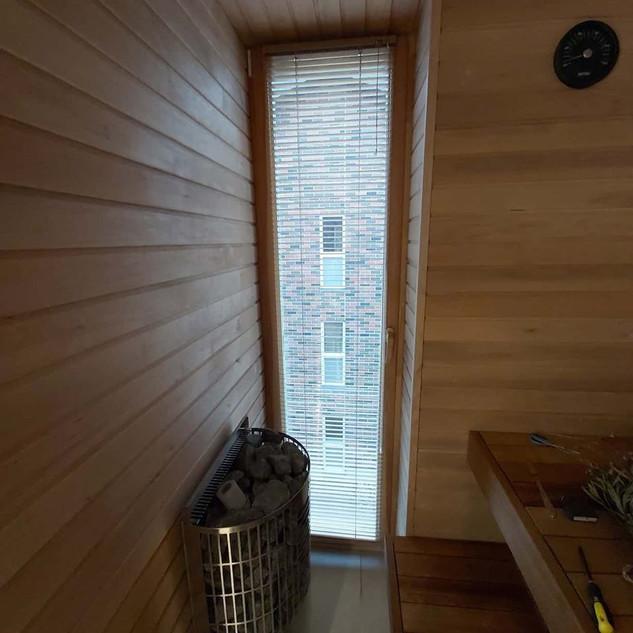 25mm alumiiniumist ribakardinad, saunas.