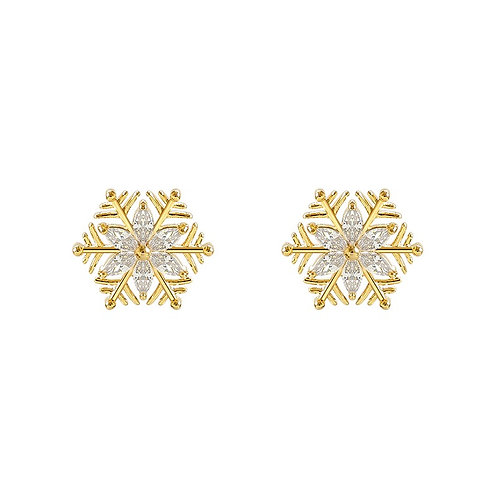 Crystal Fall Snowflake Earrings