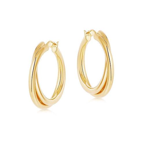 Dora Crossover Gold Earrings