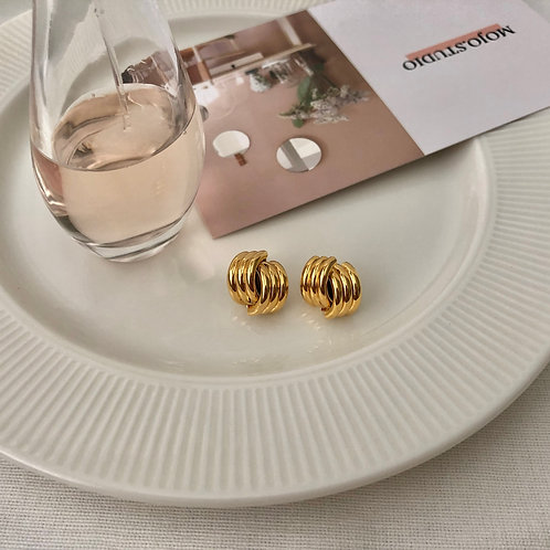 Hémicycle Gold Earrings
