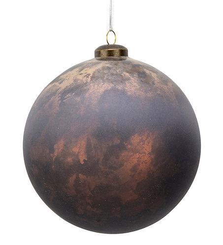 Stor, julekule med brunskimmer