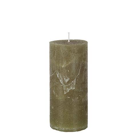 Kubbelys, olivenfarget, 15x7cm
