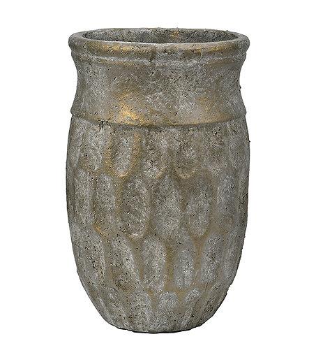 Vase/potte med gullskimmer