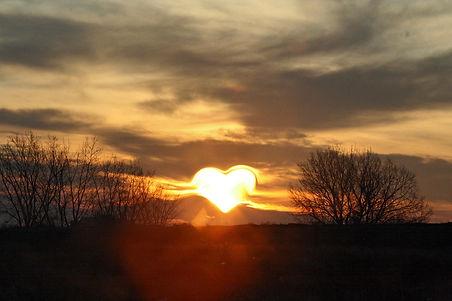 Sonnenaufgang Herz