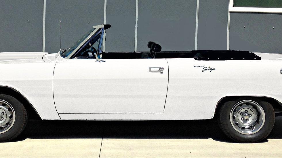 YCID #15CON, 1970 Dodge Dart Swinger 340, White/Blk convertible