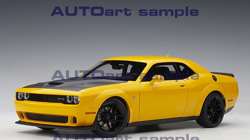 AutoArt, 2018 Dodge Challenger SRT Hellcat Widebody, YellowJacket