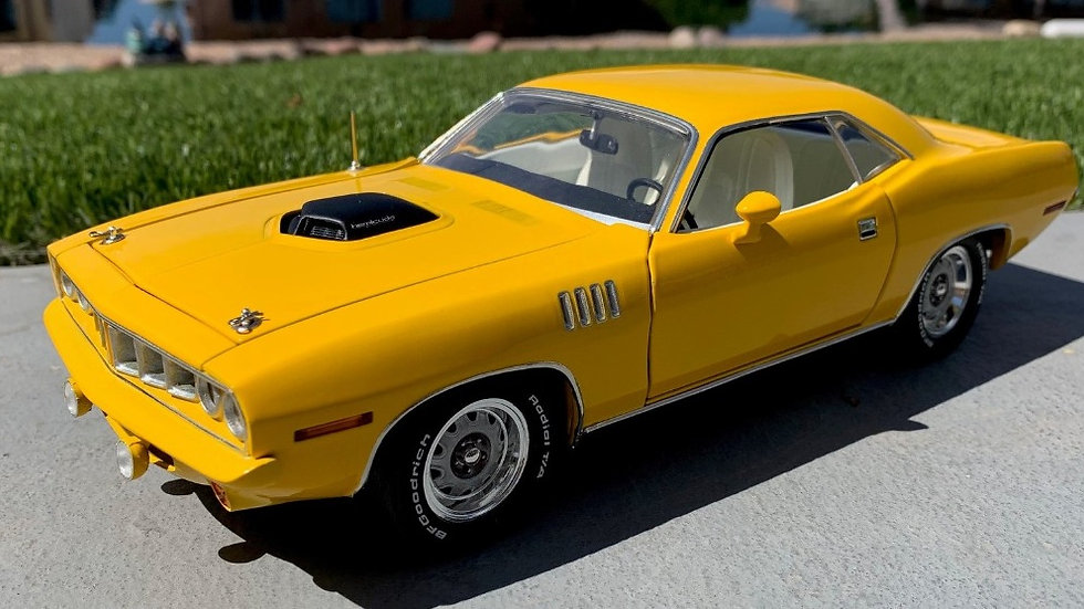 YCID, 1971 HEMI, Cuda, Nash Bridges Yellow Coupe, 1 of 60, SOLD OUT