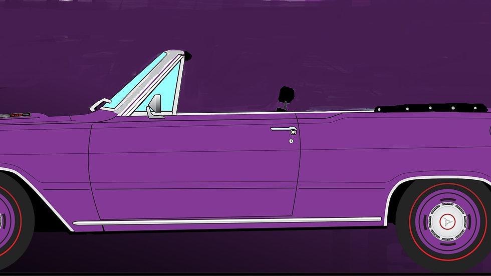 BYC release #?? , Acme, Plum Crazy Purple, 1969 Dart GTS 440 1-18 convertible