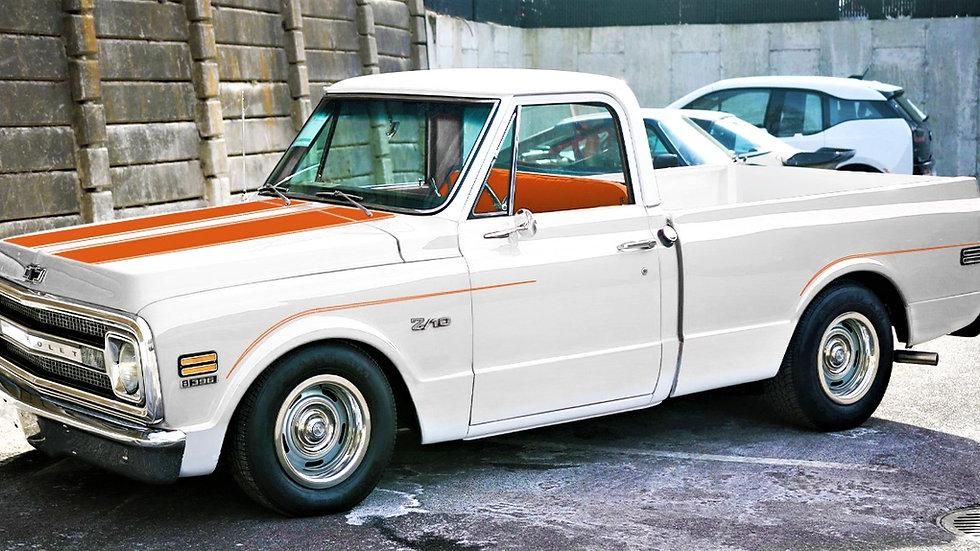 YCID, 1969 Z/10 Chevy Pickup, Pace Truck