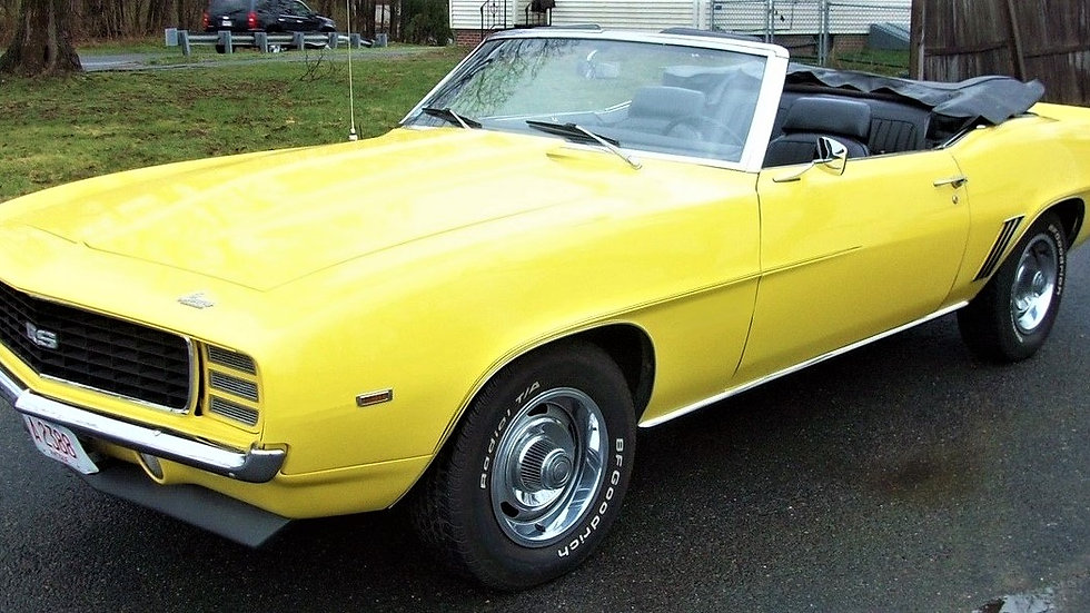 YCID #14c, 1969 Camaro RS/COPO ? Daytona Yellow convertible, 1-36