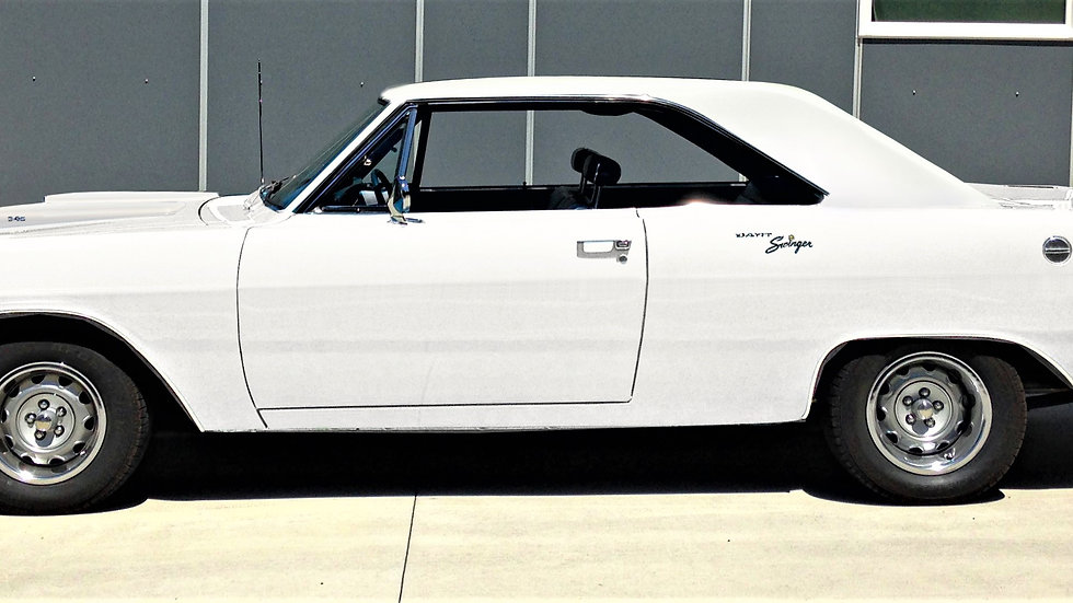 YCID #15AW, 1970 Dodge Dart Swinger 340, White/Blk interior NO stripe
