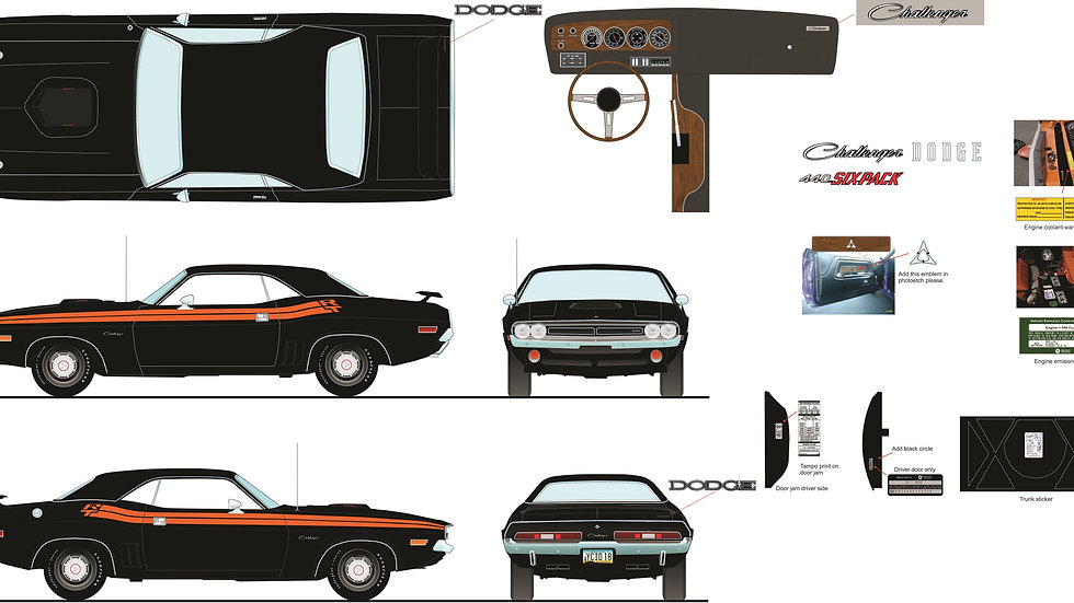 YCID #18, 1971 Dodge Challenger R/T Coupe with vinyl top