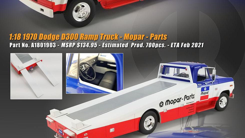 ACME, 1970 Dodge, Mopar Parts, Ramp Truck