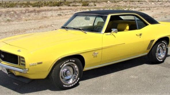 YCID #14cVT, 1969 Camaro RS/COPO ? Daytona Yellow, Black Vinyl, 1 of 48