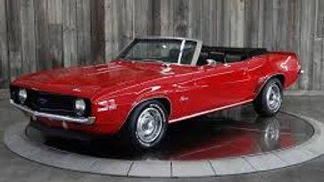 YCID #13c, 1969 Camaro, COPO, Garnet Red, convertible, 1-36