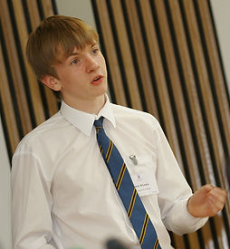 Boy giving a speech