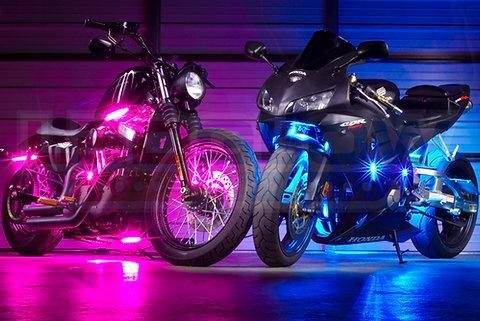 Multicolor 10 Piece Led Motorcycle Lighting Kit Sportlightingne