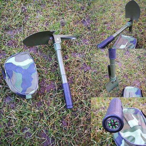 Klappspaten mit integriertem Kompass, 41cm, Multifunktionsschaufel
