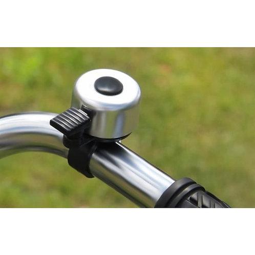 Fahrradklingel, Fahrradglocke, Schelle, Klingel, Glocke, Bimmel, Farbe: silber