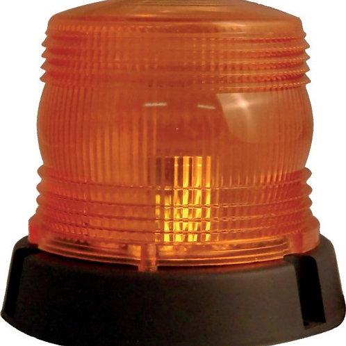 LED Rundumleuchte 120x125mm | Magnetfuss mit Spiralkabel und Stecker