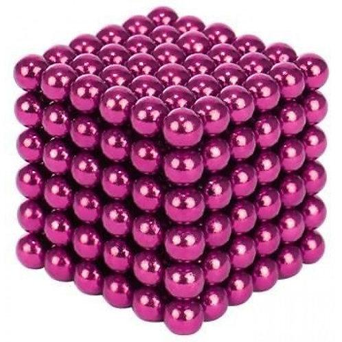 Kugeln Magnetblöcke Magnetkugeln 216 Stück/Set 3mm, pink