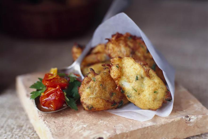 Portuguese pastel de bacalhau fried codfish patties