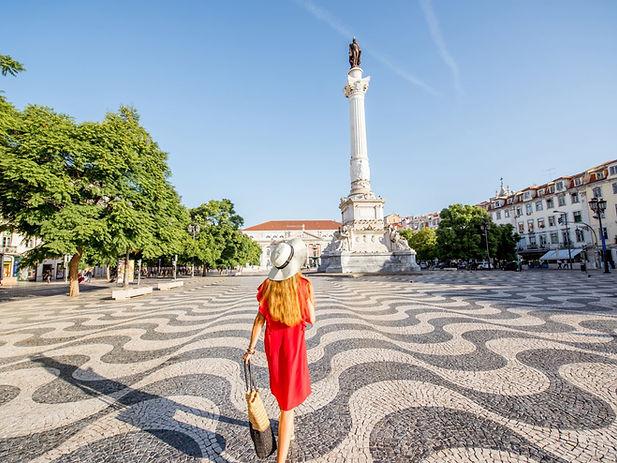Lisbon Portugal Praça da Figueira sighstseeing