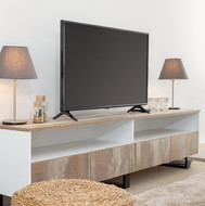 Television stand in Indy black furniture line