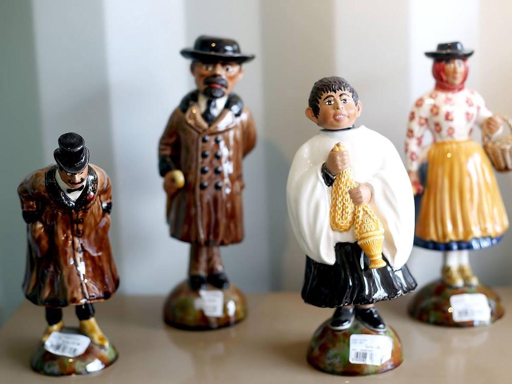 Caricature inspired pottery in Caldas da Rainha Silver Coast Portugal