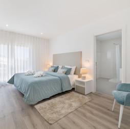 Beach colour double bedroom