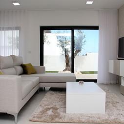 Beige toned living room