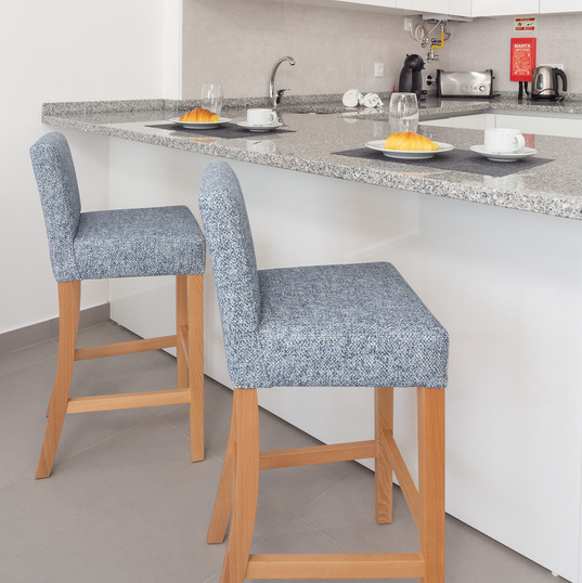 Kitchen area - bar stools
