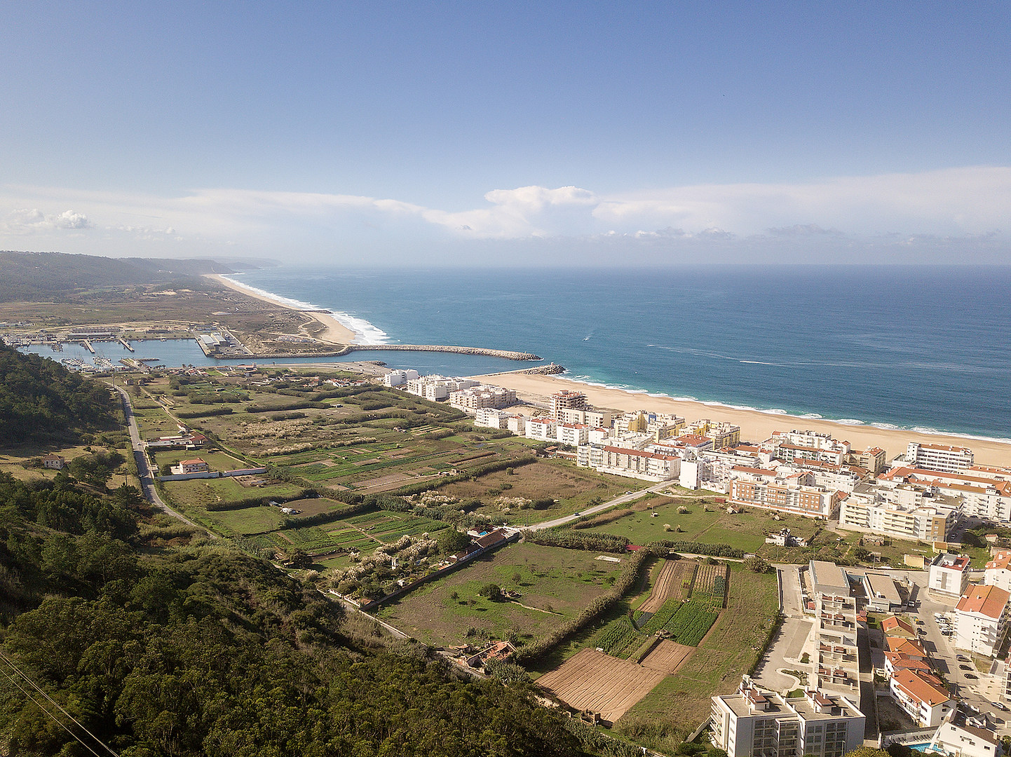 Nazare Portugal aerial view