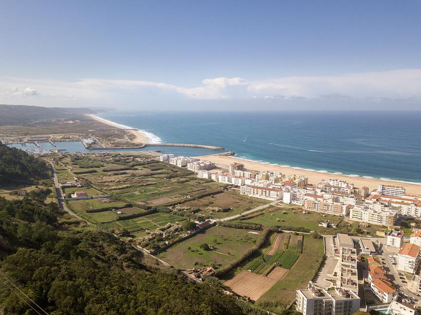 Vue aérienne de Nazare Portugal