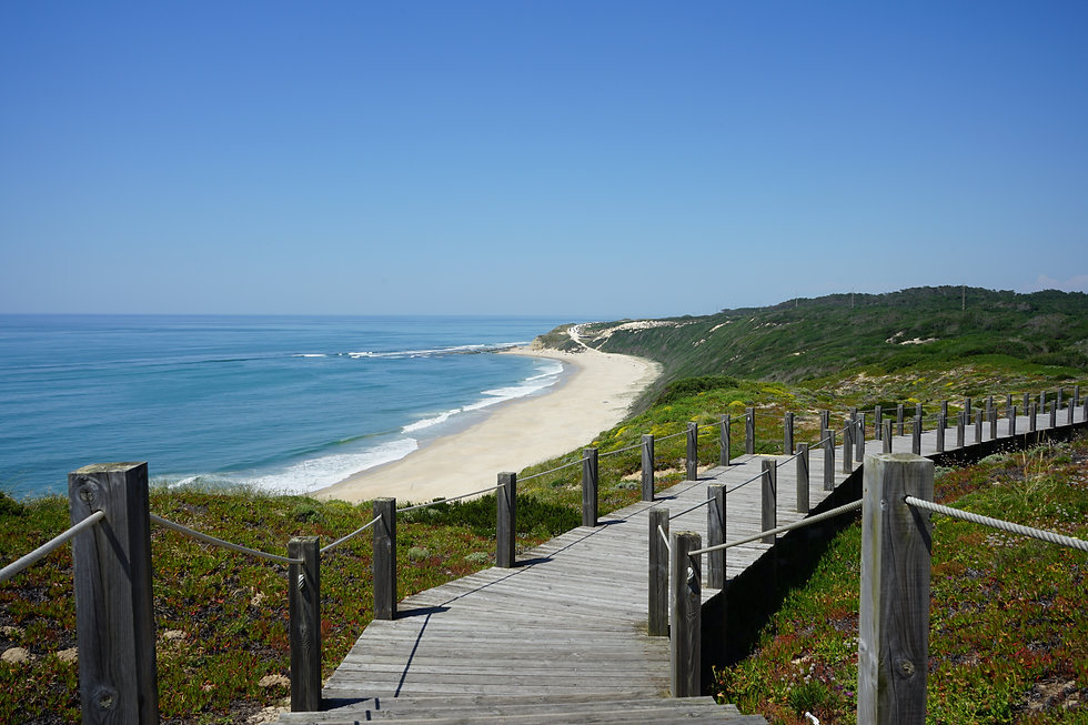 Serra da Pescaria e Praia do Salgado Por