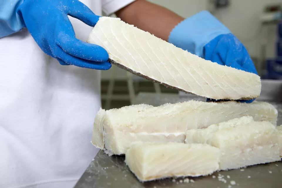 Salted cod is widely available in any Portuguese grocery store or local market