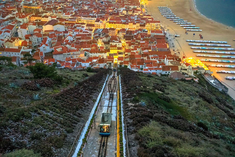 Nazaré Funicular Silver Coast Portugal