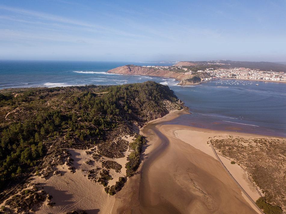 Sao Martinho do Porto Silver Coast Portugal aereial view