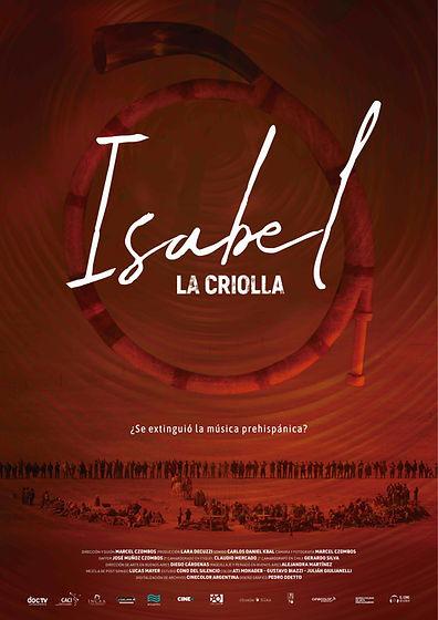 afiche ILC poster Isabel la criolla sobre Isabel Aretz ¿se extinguó la música Prehispanica? documental ganador del DOCTV LATINOAMERICA 2018