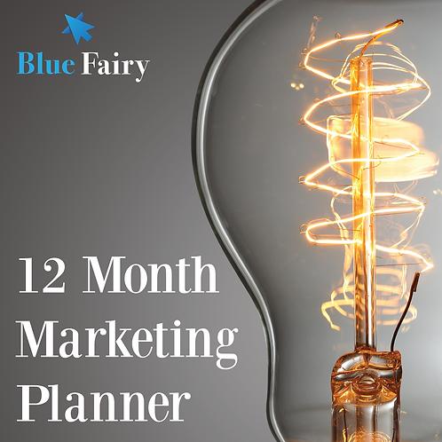 12 Month Marketing Planner