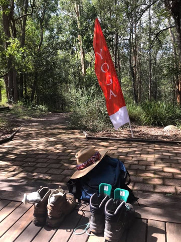 Ahhh, chilling out after a hike to Bunyip Falls